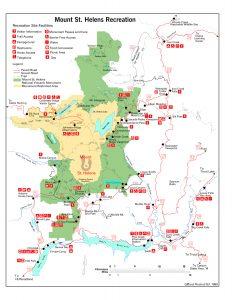 Karte der Region um den Mount St. Helens