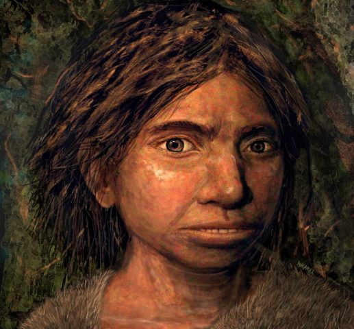 Künstlerische Darstellung des Denisova-Hominiden
