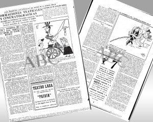 zwei Zeitungsblätter