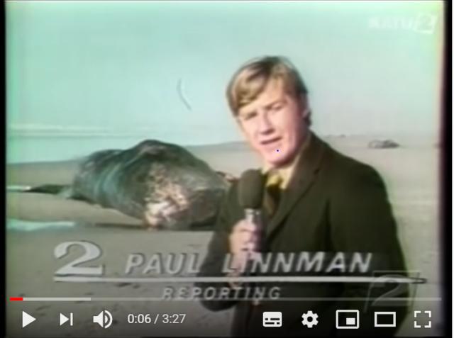 Paul Linnman am Ort der Walexplosion