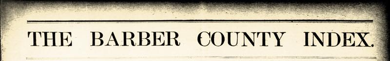 The Barbour County Index - Zeitungstitel