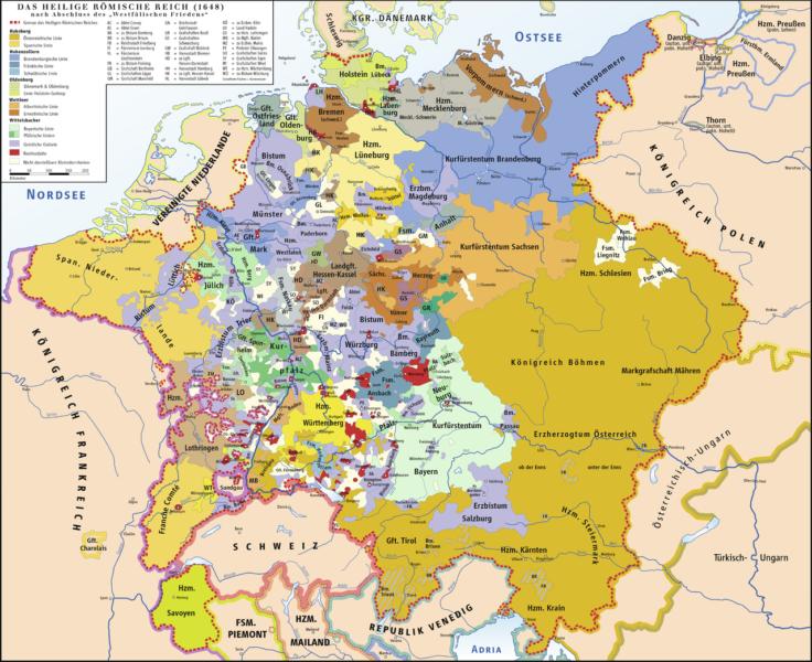 Karte des HRR 1648