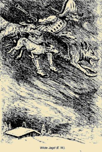Wilde Jagd mit Phantomhunden