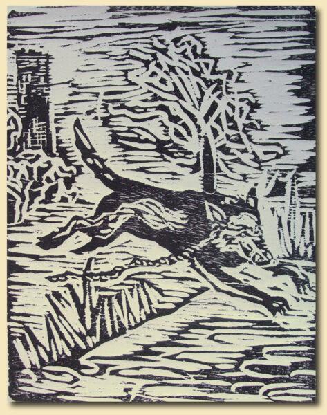 Phantomhund mit Kette